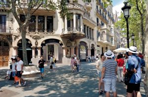 Shopping a Barcelone